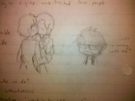I accidentaly... all over my Psych notes. by Lokirulz