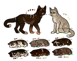 Cat Family Adopts 1 CLOSED by RibbonWren-Adopts