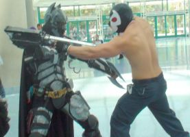 Dark Knight vs. Bane at the Anime Expo (AX) 2012 by trivto