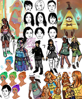 Summer Sketchdump 2015 by ForeverSoaring