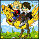 Squall and Zell -FF8 by rir