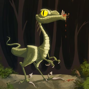 Speed Painting 5 - Raptor by ARCallejas