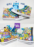 Owl Chucks by Bobsmade