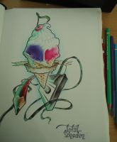 ice cream cassette pencil flash art by SneezingJellyfish