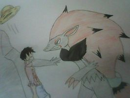 OP and PKMN: Luffy vs. Zoroark by XfangheartX
