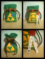 Zelda (and 40k?!?!) Dicebag by RawringCrafts