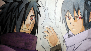 Madara and Sasuke by IdusMartius