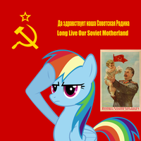 Equestrian Soviet Poster by ZombiePony1