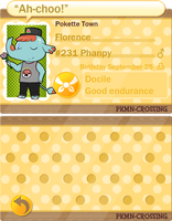 PKMN-Crossing App Florence by FlooffyFighter