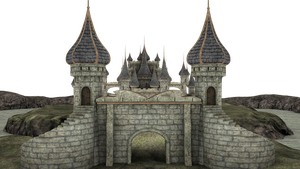 3d Fantasy Castle Stock Parts #4 front kingdom by madetobeunique