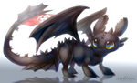 =HTTYD= Night Fury Toothless by LeoKatana
