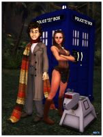 13-02-05 The Doctor and Leela by aldemps
