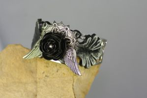 Gothic soaring rose cuff by MonstersInThewall