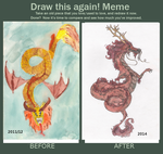 Before and After: Chinese dragon by Annikabannika