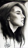 Charcoal Girl Update by JohnVitaleArt