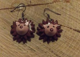 Hedgehog earrings by MeticulousBlue