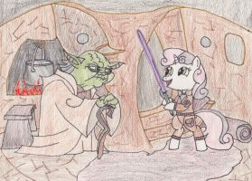 Training the New Padwan... by DarkKnightWolf2011