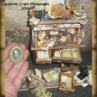 Miniature Egyptologist Desk 1 by grimdeva