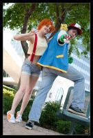 Ash + Misty - Play Ball by Kuragiman