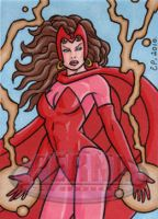 Scarlet Witch Sketch Card 2 by ElainePerna