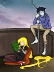 Fionna and Marshall Lee - as Mavis and Jack Frost by JuliaLucky