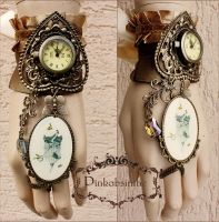 Victorian cage pendant cuff by Pinkabsinthe