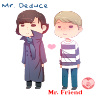 [BBC SHERLOCK FANART] Mr. Deduce and Mr. Friend~ by Vivi-Chuu
