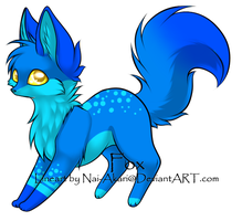 Blue Fox Adopt .:CLOSED:. by KiraNeko813