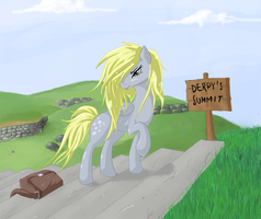 Derpy's Mountain Trek by v-invidia