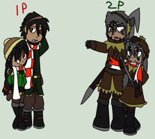 1p and 2p by Land-of-her-People