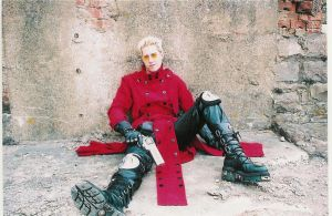 Vash Cosplay Against the wall by plushieman