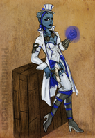 Steampunk Liara by PhantasmicDream