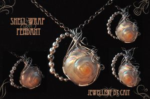Shell Wrap Pendant by tanyquil