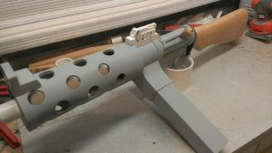 Bioshock Infinite machine gun WIP replica. by weaselhammer