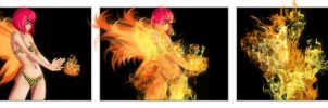 Fire Pixie Transformation by LilArtist23