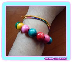 colorful wood bracelet 2 by cuca-factory