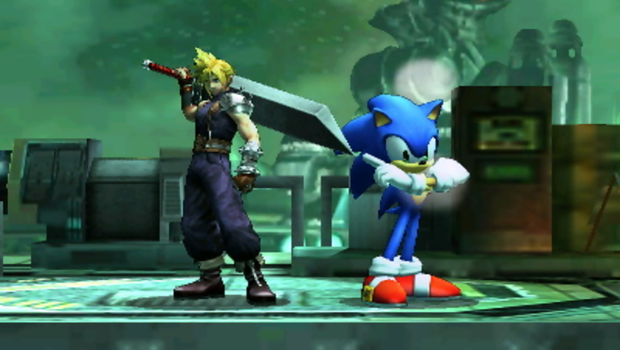 SSB3DS Picture 10 - Sonic and Cloud Strife by quincyjazimar13