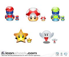 Super Mario Lumina Style Icons by Iconshock