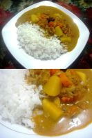 chicken curry n rice by plainordinary1