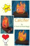 Calcifer plushie by willowthepixie
