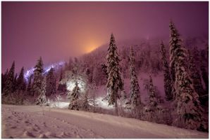 Evening Lights in Ruka by closer-to-heaven