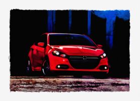 2012 Dodge Dart Painting by photoman356