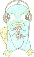 Perry Listening to Music by iheartcartoons