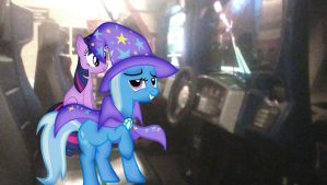 Trixie and Twilight will play Rush 2049 by alerkina2
