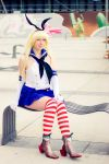 striped socks by Saki-Kisu