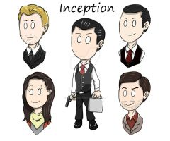Inception: Chibi keychain by Trirasceous