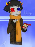 sollux captor and the pocky by Yuuki-Hichi