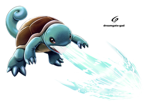 Squirtle shot first by Dreamgate-Gad