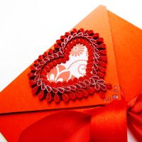 quilling envelope Heart Love by othewhitewizard