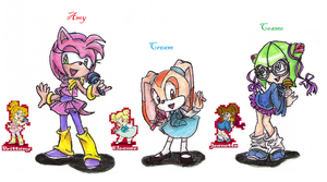Amy, Cream and Cosmo by Kmi-cn